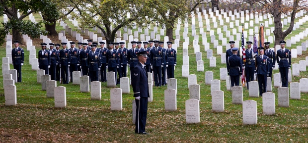 Honor guard at Arlington National October 31, 2013