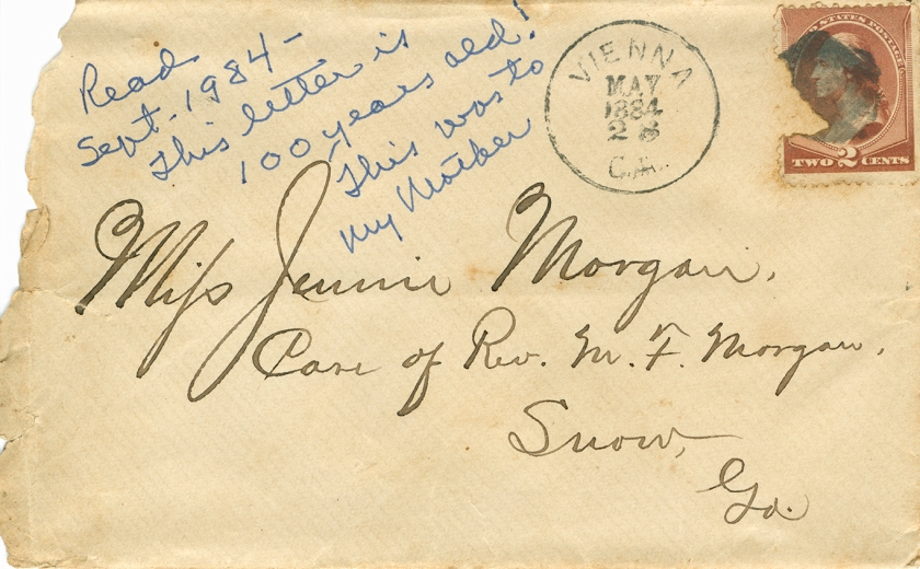 1884-5-28 Letter to Jennie Morgan