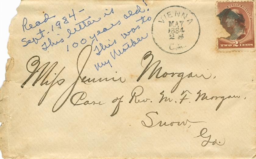 1884-5-28 Letter to Jennie Morgan