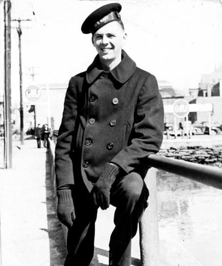 April 1943 - Newport, Rhode Island - Oscar Cole on leave from the Navy