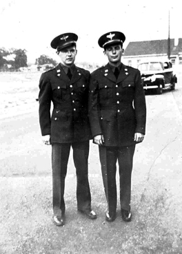 ON BACK: Tommy and Russ Dougherty Gunter Field April 1942