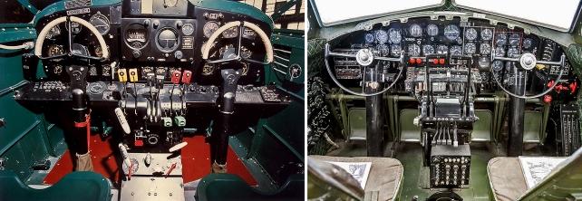 at-10-and-b-17-cockpits