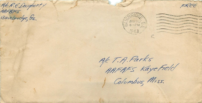1943-01-20 Russ to TAPjr-Envelope