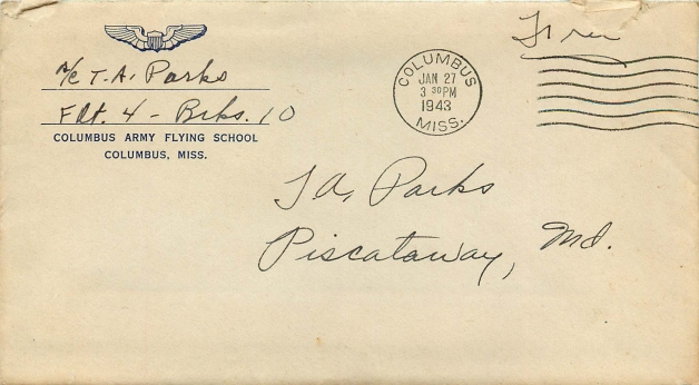 Envelope 1943-01-26 TAPjr to VWP