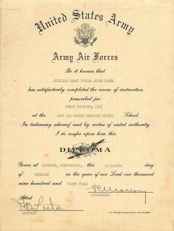 1943-02-16 Diploma